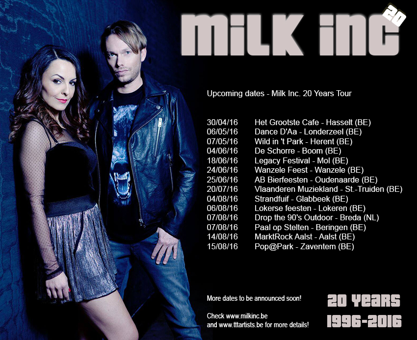 Milk Inc. 20 Years tour